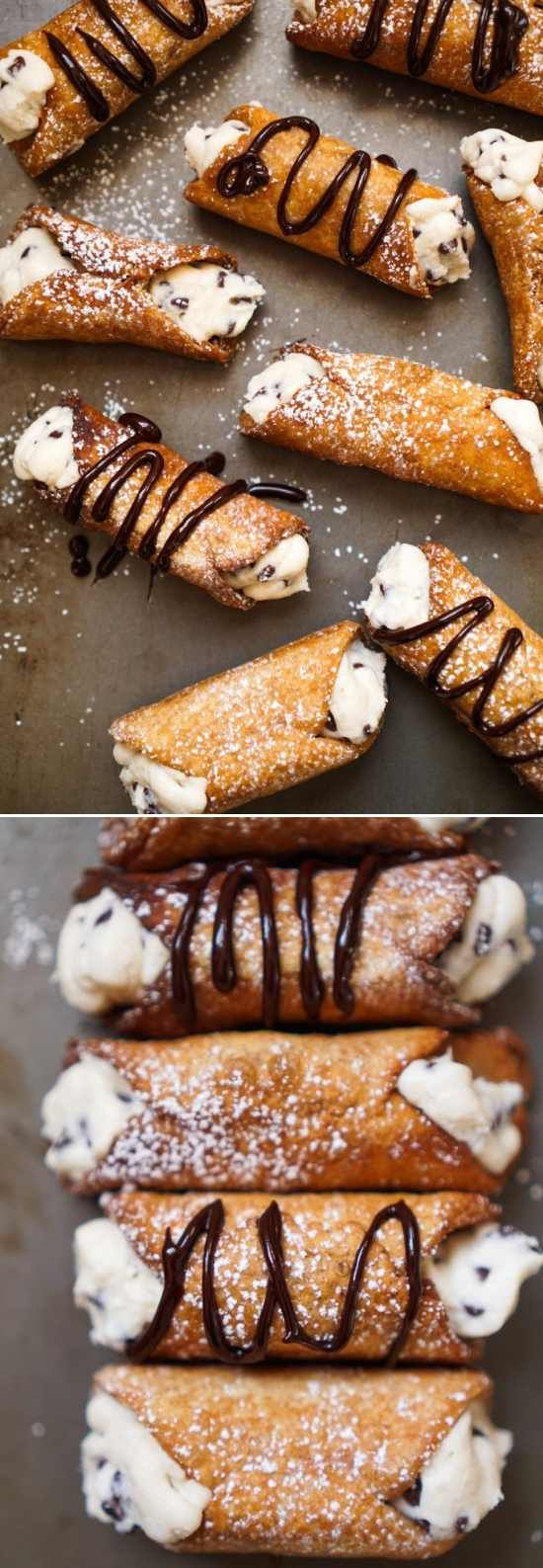 HOMEMADE CANNOLI - cheese, chips, chocolate, cinnamon, dessert, milk, recipes, vanilla, wine