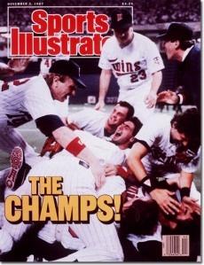 Minnesota Twins win their first World Series: October 25, 1987