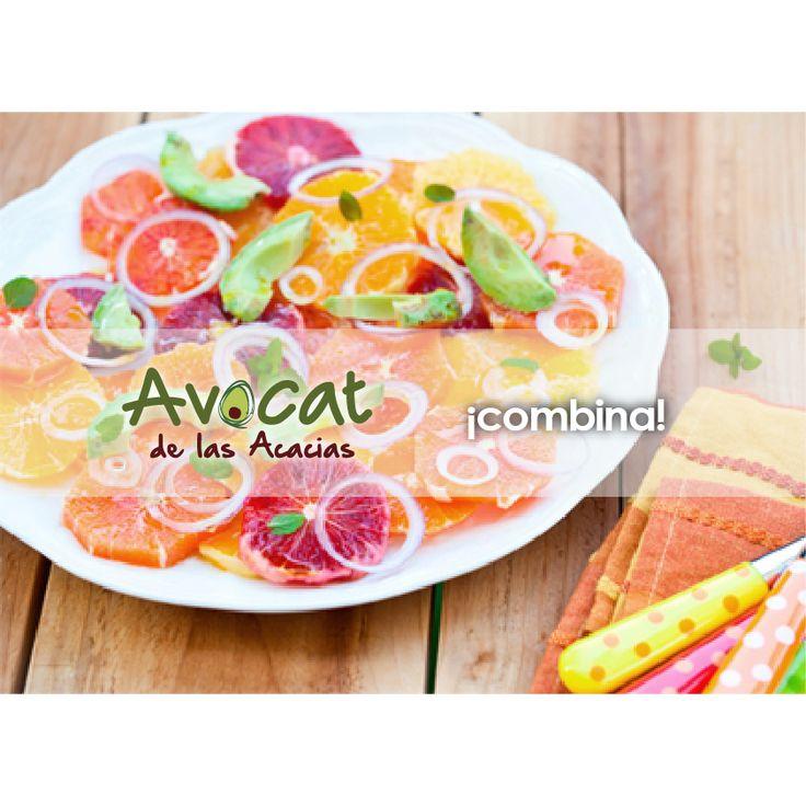 Deliciosa ensalada de aguacate con cítricos http://www.recetin.com/ensalada-de-aguacate-con-citricos.html#avocatacacias #aguacatehass #consumemashass #compromisosocial
