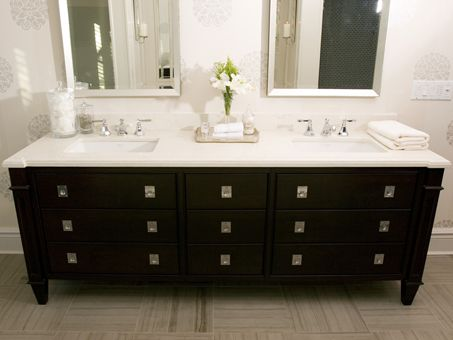 Photo Gallery On Website Suzie Tara Fingold Interiors Modern black bathroom design with black bathroom vanity double