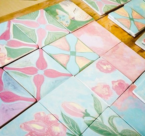New tiles just got them out of the kiln!!!