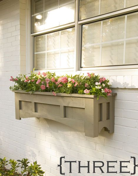Building Plans and ideas for different kinds of Window Box Planters