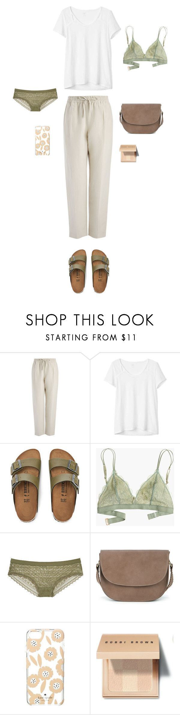 """""""27."""" by olinka1408 ❤ liked on Polyvore featuring Joseph, Gap, Birkenstock, Madewell, Sole Society, Kate Spade and Bobbi Brown Cosmetics"""