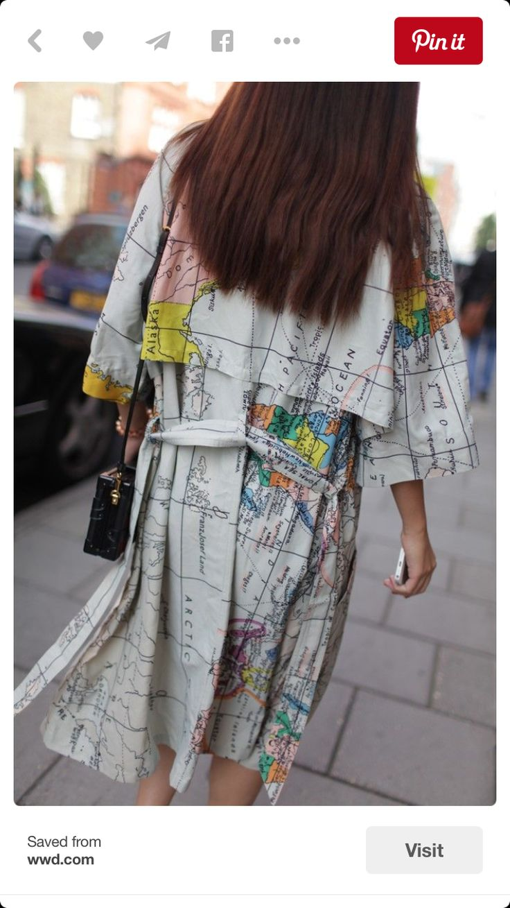 Map coat, travel the world and be enchanted.