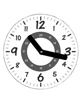 Školské hodiny - čiernobiele