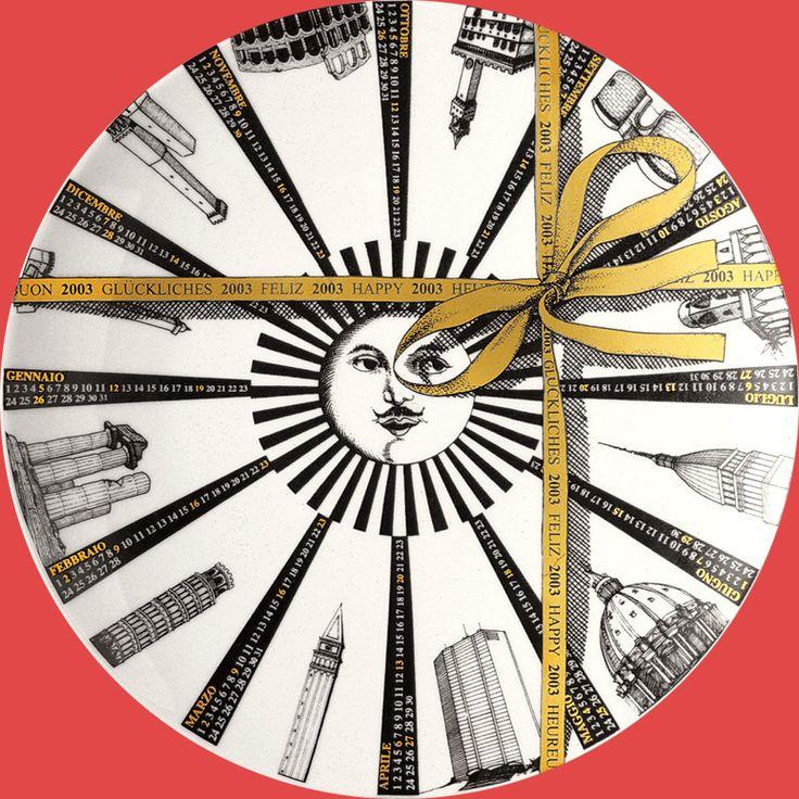 Piatto calendario 2003 Piero Fornasetti, Milano