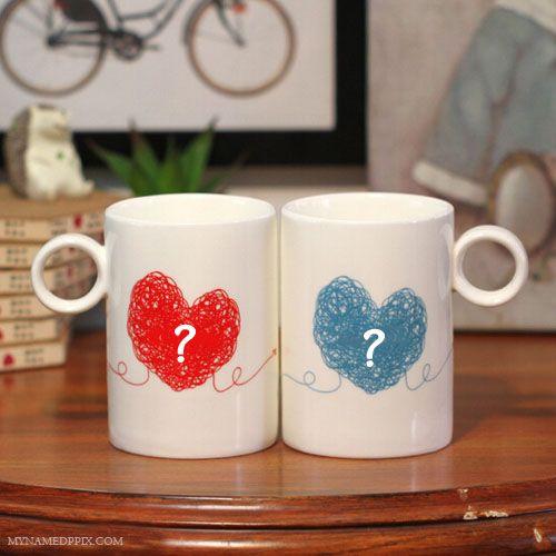 3c6031b72 His And Her Name First Letter On Coffee Cup. Write Boy And Girl Name  Morning Coffee Cup. Beautiful Love Heart Cup With Lover Name. Create Online  Couple Name