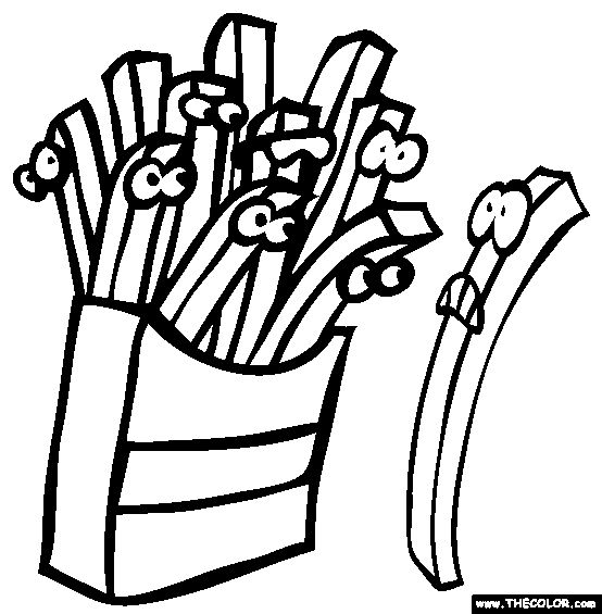french fries coloring pages - photo#27
