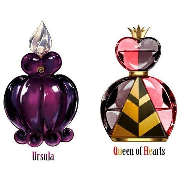 Os perfumes dos vilões da Disney ❤ liked on Polyvore featuring perfume