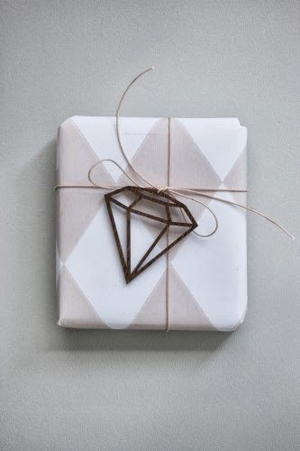 graphic paper with diamond gift wrap...perfect for weddings