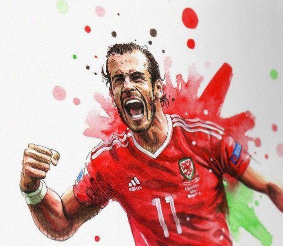 Gareth Bale Wales UEFA Euro France 2016 A3 Wall Art Print