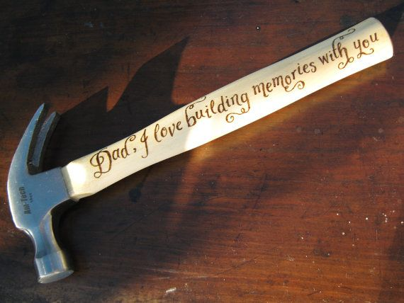 Personalised hammer engraved with your own message by Cove Calligraphy £28.50