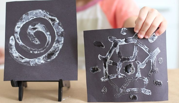 """So cool! The kids can paint like Jack Frost - Mix just two ingredients together to form DIY ice paint. Then, paint designs on paper and watch as """"ice"""" crystals form."""