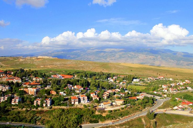 A view overlooking Metula on the Lebanon border