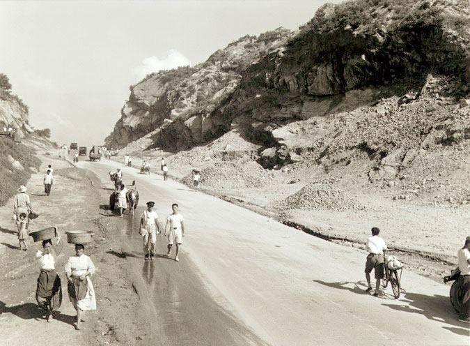 1961년 무악재 도로확장공사