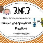 This math set is tied directly to the third grade common core NF.3: Explain equivalence of fractions in special cases, and compare fractions by rea...