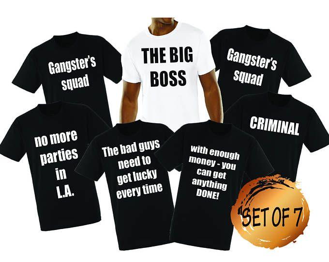 752409e5015732 SET OF 7 Narcos Bachelor party Shirts