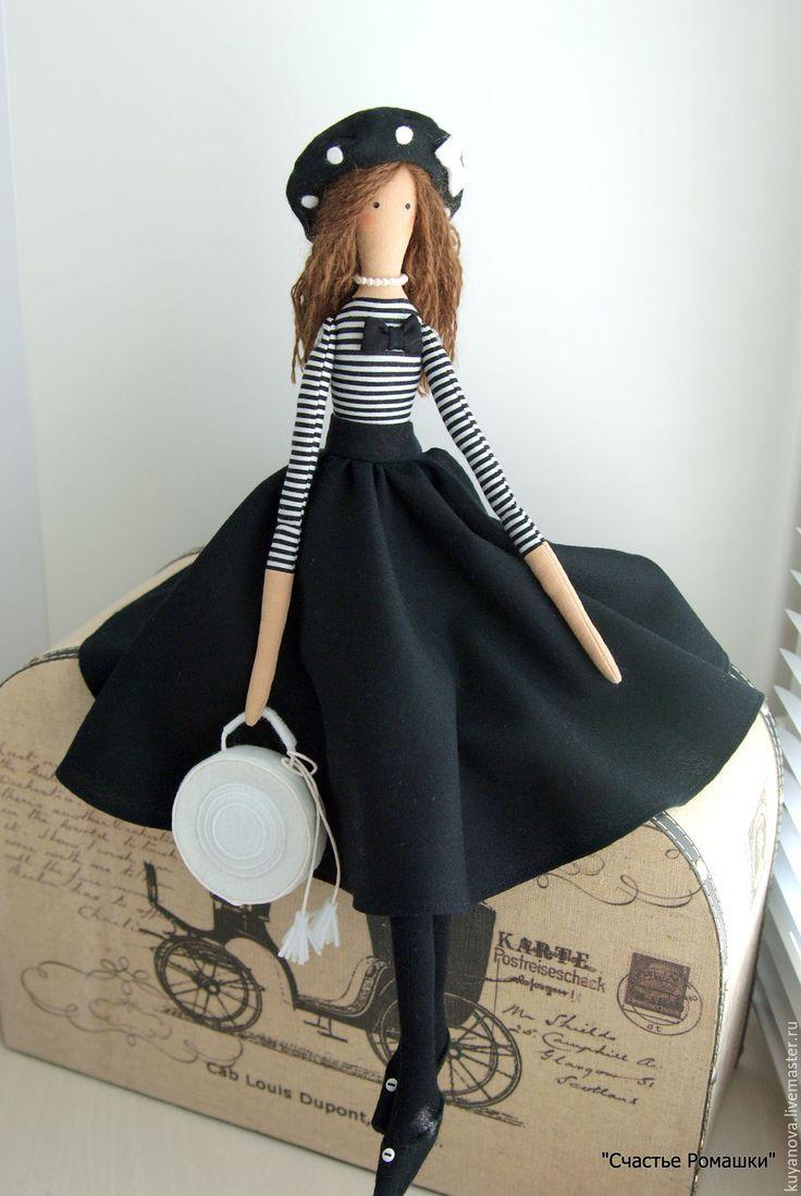 Купить Полин - комбинированный, текстильная кукла, интерьерная кукла, тильда, кукла Тильда