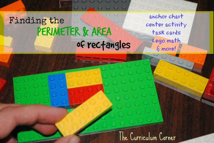 Finding the area and perimeter of rectangles resources from The Curriculum Corner
