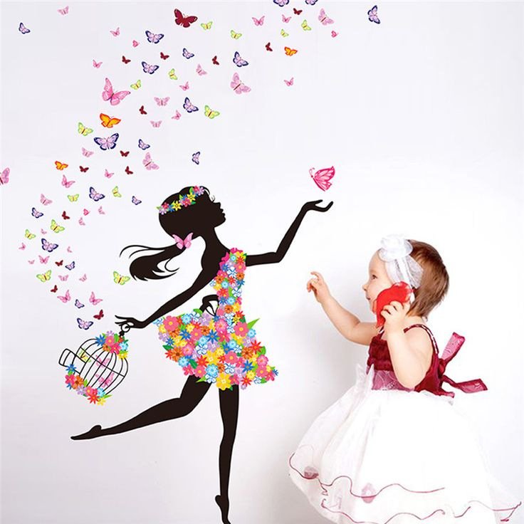 Lovely Girl Wall Sticker //Price: $14.99 & FREE Shipping //     #wallsticker