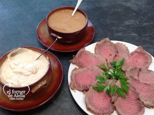 Carmen nos presenta un delicioso redondo de ternera a las dos salsas, una receta ideal para cualquier tipo de celebración. Esperamos que os guste.