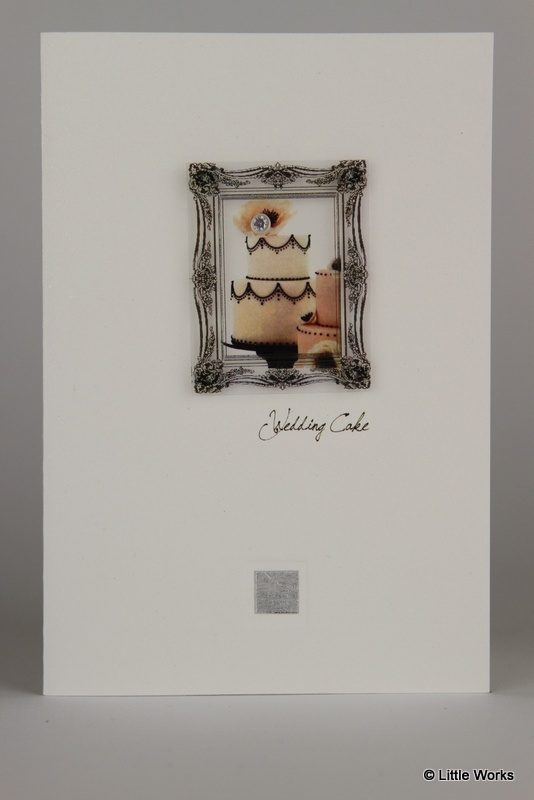 Wedding Cake - wedding card with cubic zirconia