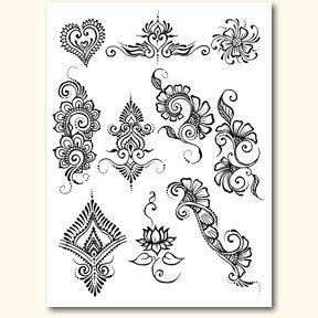 henna stencils - Google Search