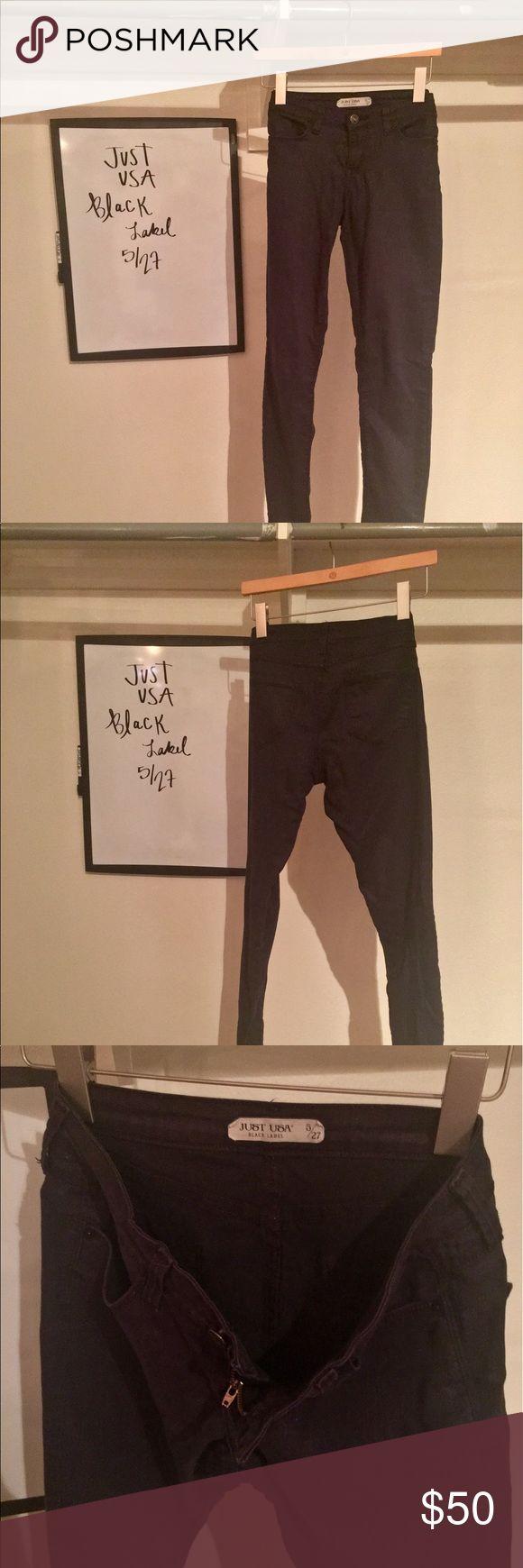 Saks Fifth Avenue - Just USA Denim Saks Fifth Avenue - Just USA Denim - Black Label - Size 5/27. Saks Fifth Avenue Black Label Jeans Straight Leg