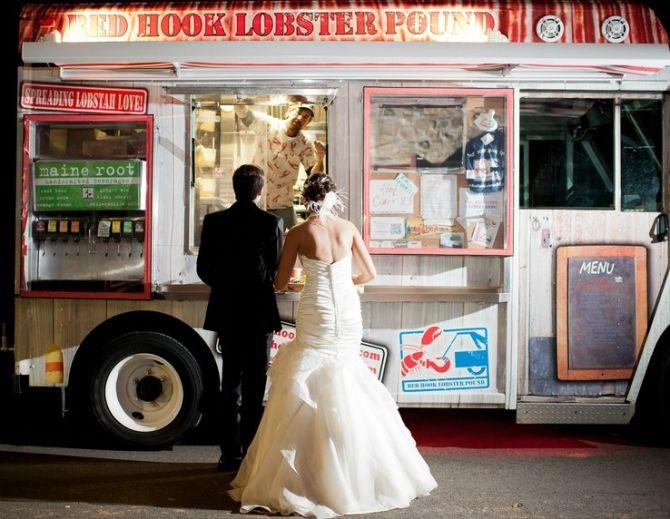 A Couple Eagerly Awaits Their Food Truck Dinner