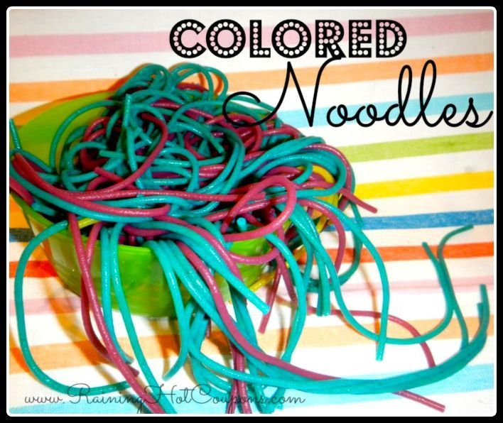 Colored Noodles Recipe (Fun for the Kiddos and Very Inexpensive!)