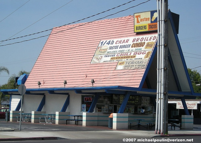 old Tastee Freez A- frame building ( City of Long Beach California) by Dying In Downey, via Flickr