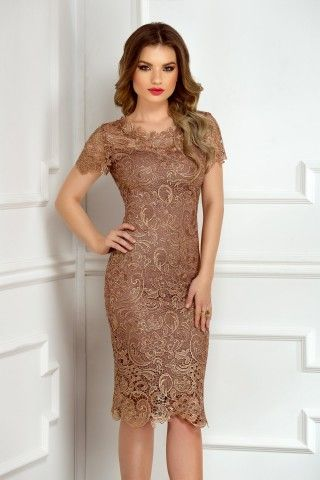 A perfect caffe lace dress for a special day event. Order here: http://bit.ly/Amira-caffe-dress