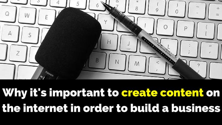 Creating content on the internet is important to build a business and here's why: http://brandonline.michaelkidzinski.ws/why-its-important-to-create-content-on-the-internet-in-order-to-build-a-business/