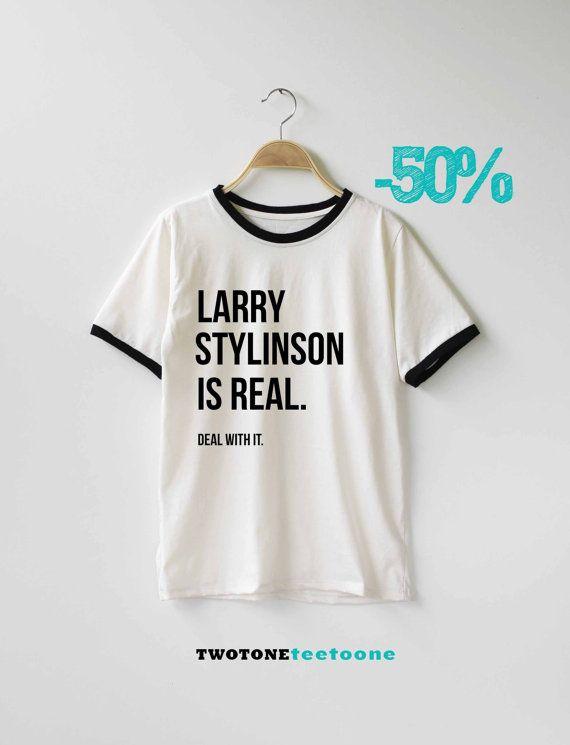 Larry Stylinson è vero affare con esso camicia t-shirt TShirt T Shirt Tee