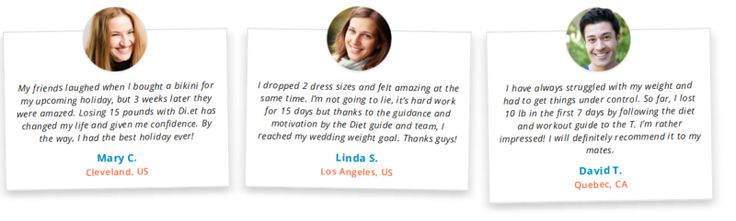 15 day diet customer testimonials.