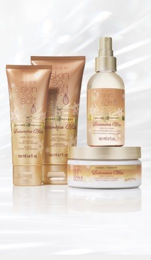 I ♥ luxurious skin treats! I'm pampering myself with Avon's Skin So Soft Aroma + Therapy Luxurious Bliss! #AvonRep