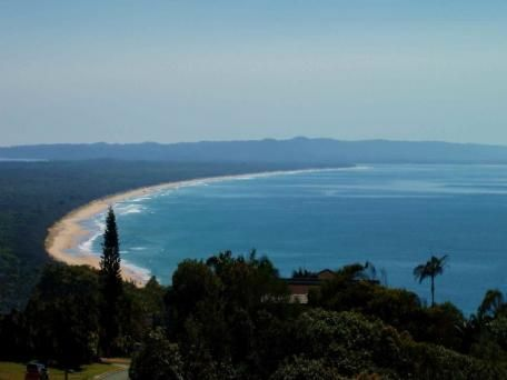 This was our view from our condo.  2/105 Cooloola Drive Rainbow Beach Qld 4581