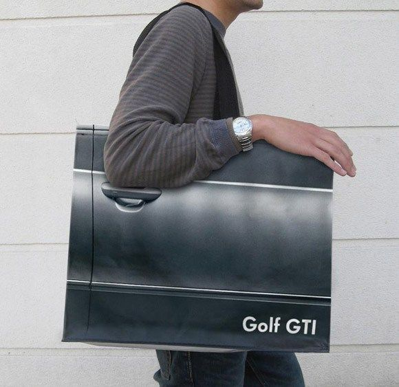 Golf GTI car door bag