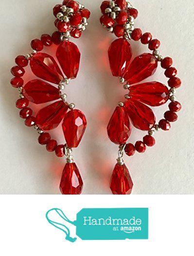 Red crystal earrings, aros en cristal rojo, Crystal, Handmade Earrings from ADN Jewelry https://www.amazon.com/dp/B075VL8NPM/ref=hnd_sw_r_pi_dp_HVLXzbD7B6YP6 #handmadeatamazon