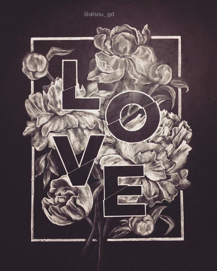 Цветы и буквы мелом на стене в моей квартире. Все совпало с 14 февраля:)