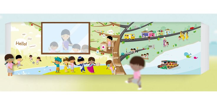 """Wall Sticker Design for Yio Chu Kang Chapel Kindergarten 