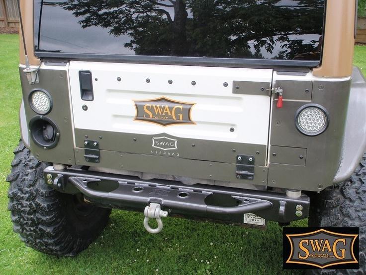 Swag Jeep Wrangler Aluminum Drop Down Tailgate Conversion