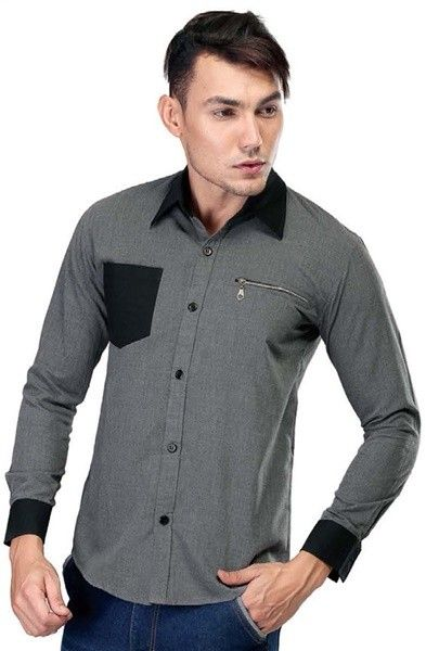Cotton Shirt Grey