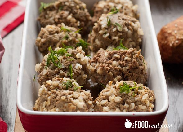5 Ingredient Crock Pot Rice Meatballs - no pre-cooking required. Truly set-n-forget dinner.