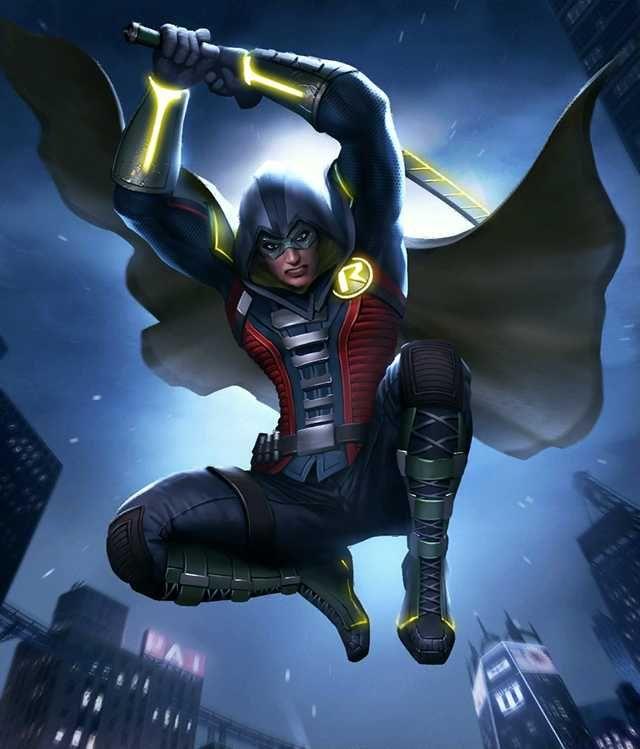 Injustice 2 Mobile Roster Damian Wayne Dc Comics Art Batman Universe
