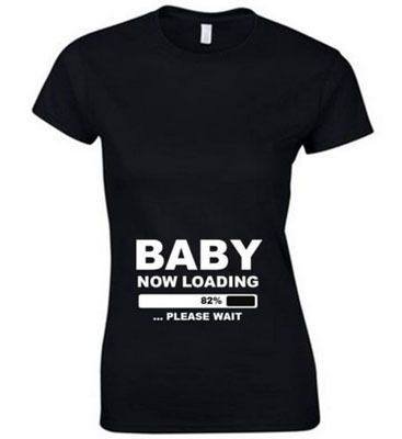 Custom Funny Pregnant Maternity Shirts BABY NOW LOADING Ladies T-Shirt Men/Women available leave message //Price: $30.38 & FREE Shipping //     #hashtag2