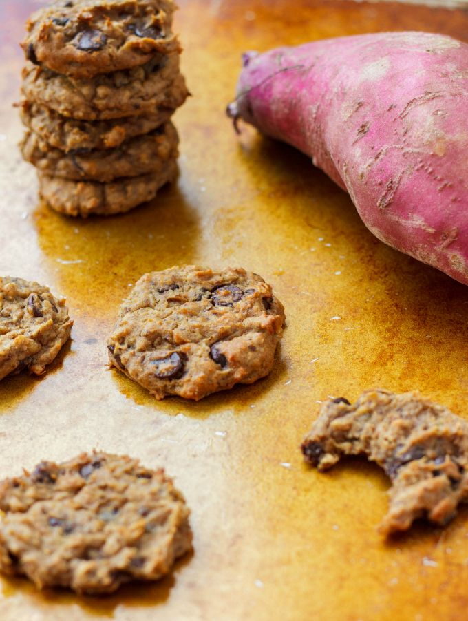 Taking a cookie a step further in the health department and creating no-sugar sweet potato chocolate chip cookies that are tasty, vegan, and healthy!