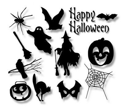 Halloween Silhouette SVG Set
