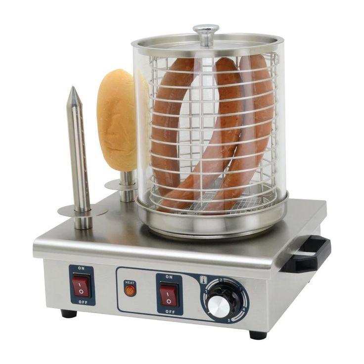 Máquina de perritos calientes de dos pinchos Buffalo DA565