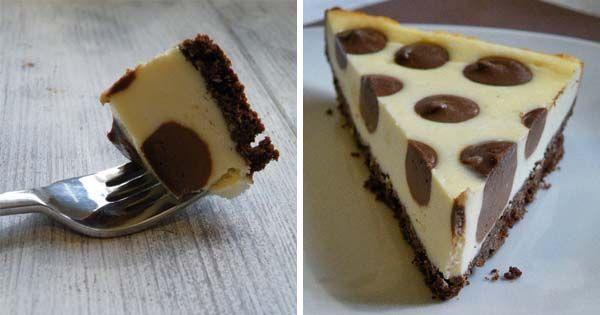 Pre mnohých ľudí je cheesecake najobľúbenejšou maškrtou. Ak k nemu pridáte trochu čokolády v podobe bodiek - Bodkovaný cheesecake (Polka dot) - recept